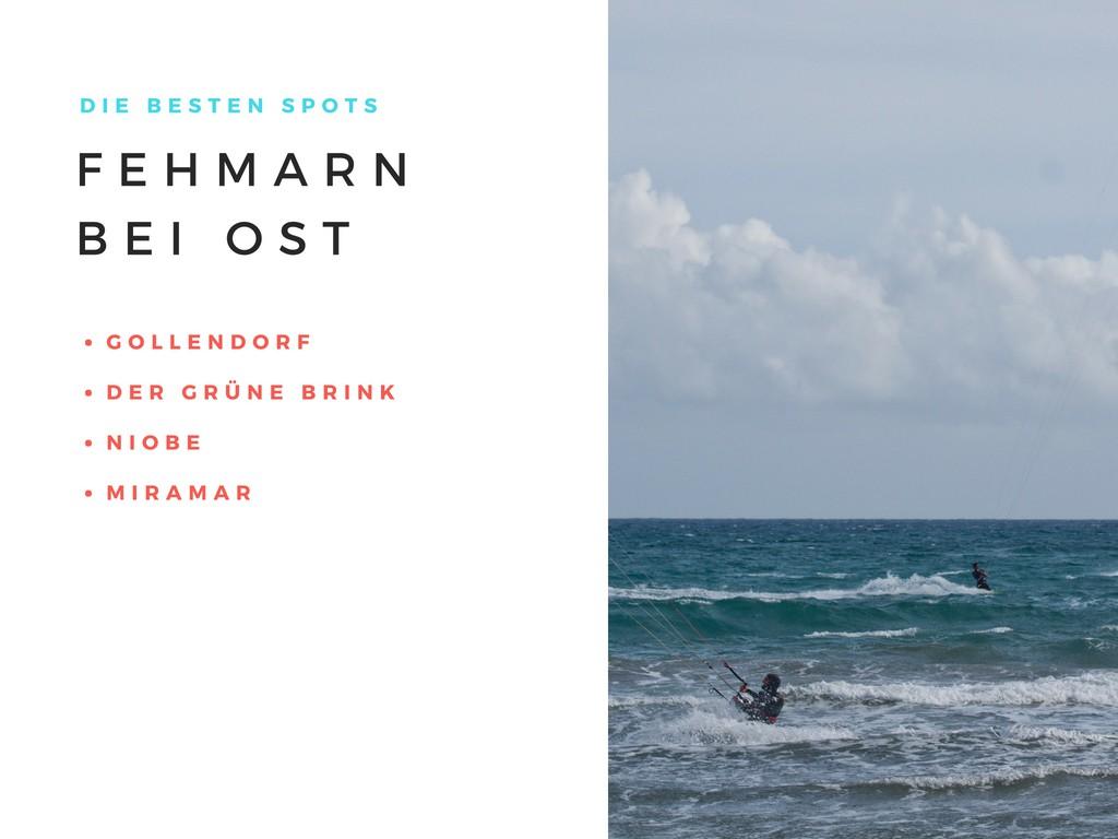 Kitespots auf Fehmarn Kiten Surfen Surfspots Tipps Ratschläge Ostwind